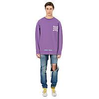 Свитшот Off White цвет фиолетовый 17549 (XS, S, M, L, XL, XXL)