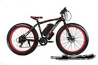 Электровелосипед электрофетбайк1000 E-motion красный