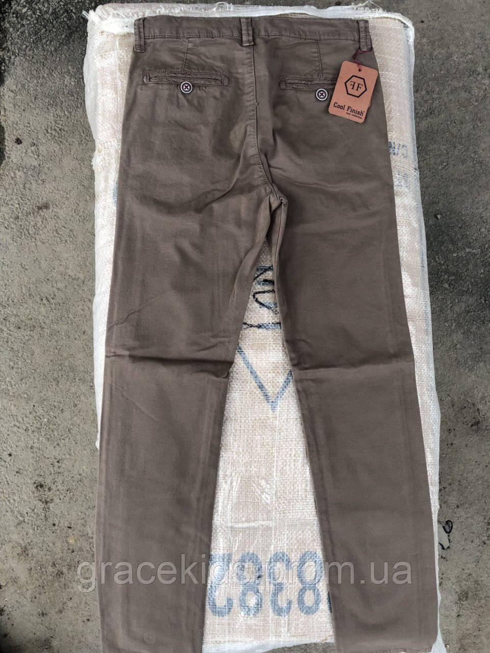 Нарядные котоновые брюки для мальчиков подростковые Cool Finish,разм 11-15 лет