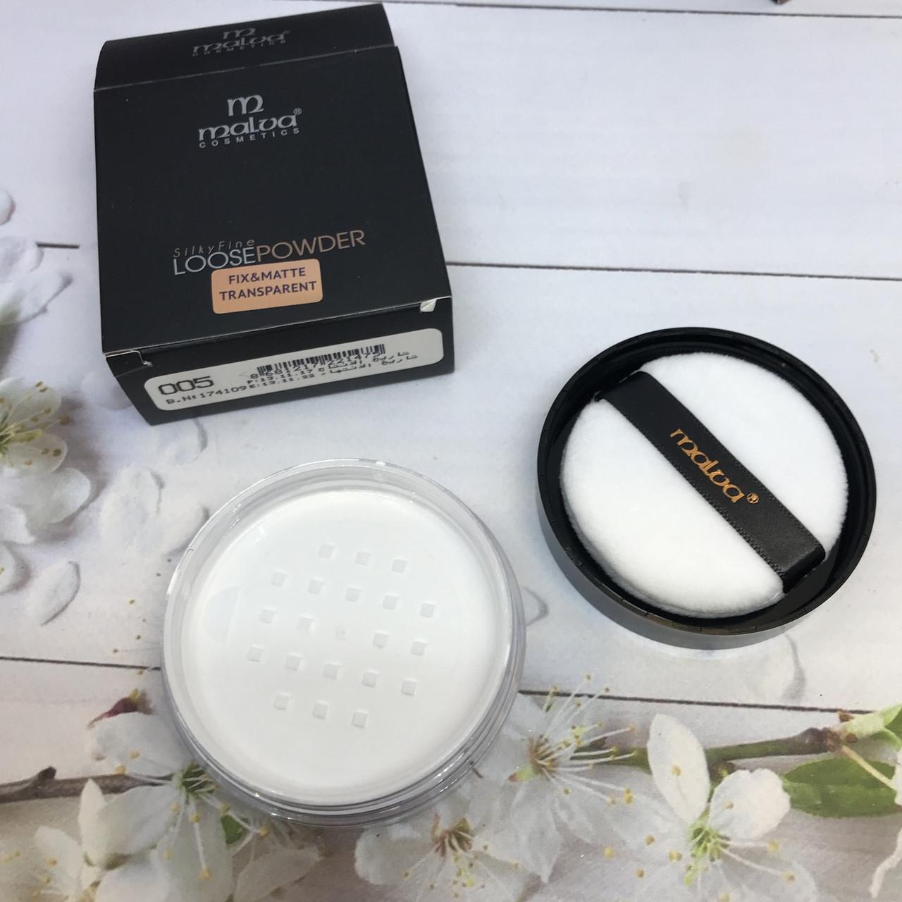 Пудра от malva cosmetics silky fine loose pouder - воздушная и прозрачная