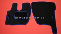 Авто ковры велюровые для RENAULT PREMIUM 2005> водитель+пассажир синие