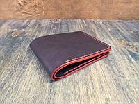 Кожаный бумажник с прокрашенными урезами. Ручная работа
