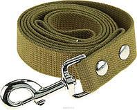 Поводок брезентовый для собак 10 м длина, 25 мм ширина