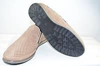 Туфли мужские Belvas 1979-1 бежевые нубук на резинках, фото 1