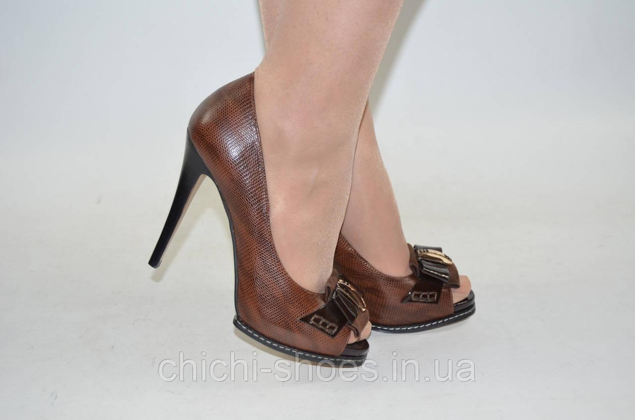 7f673b932cca Туфли женские каблук шпилька кожа-лак коричневые Blizzarini 66-063 - Bigl.ua
