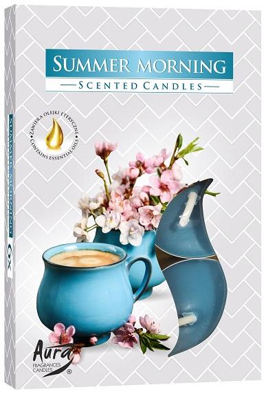 Свеча чайная ароматизированная Bispol Летнее утро 1.5 см 6 шт (p15-252)
