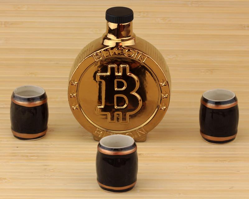 Купить Подарочный набор для бара Bitcoin 3 стопки по 30 мл, Парк Чудес
