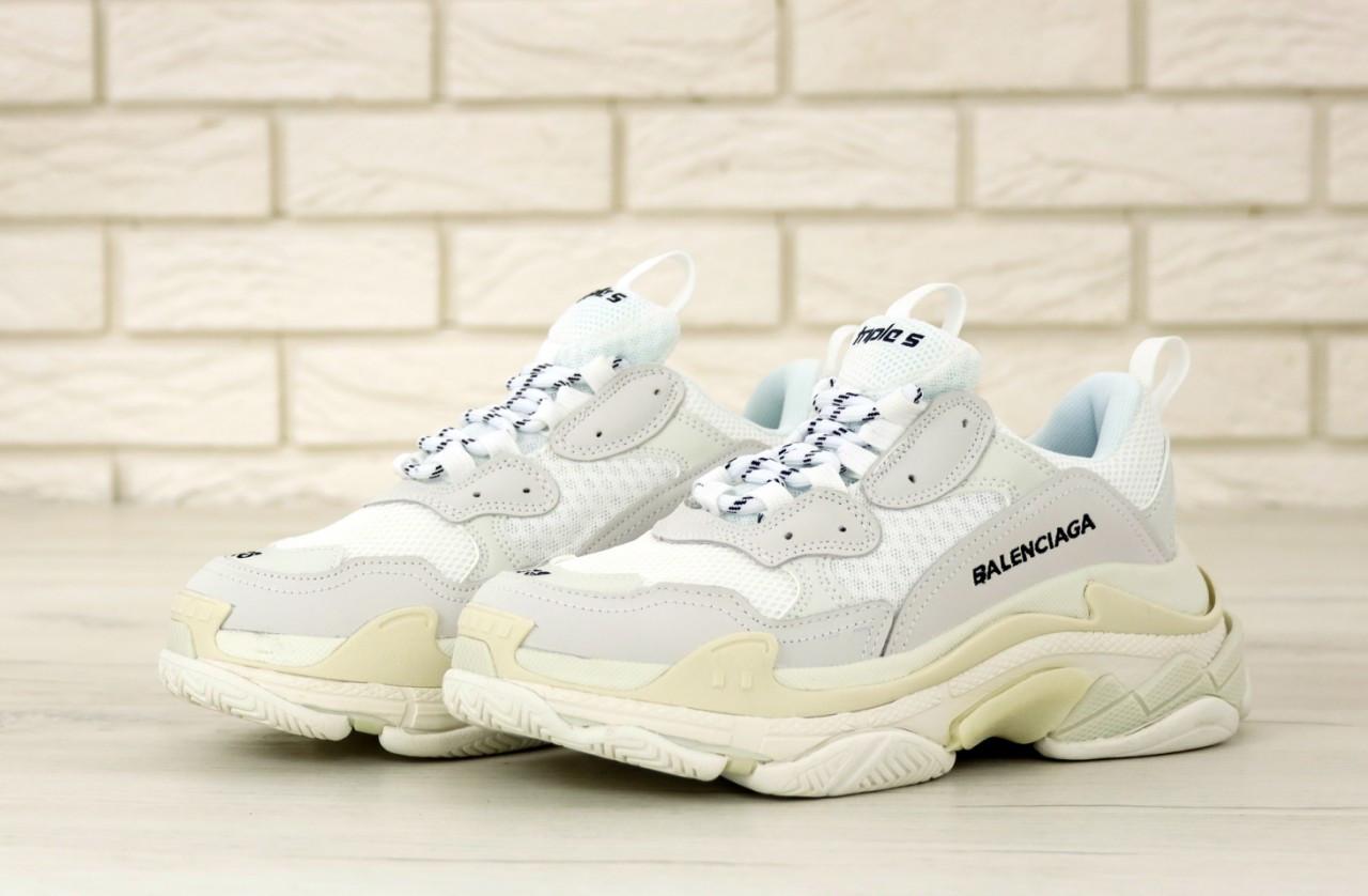 Женские белые Кроссовки Balenciaga Triple S