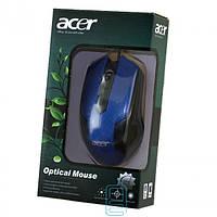 Мышь проводная ACER Optical Mouse синяя