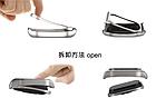 Ремешок Xiaomi Mi Band 2 MiJobs Metal металлический крупное звено Черный [1908], фото 3