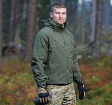 Демисезонная тактическая куртка Helikon-Tex® GUNFIGHTER Windblocker® Soft Shell (оливковая), фото 3