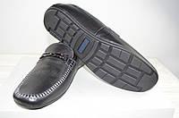 Туфли мужские Konors 696-7-1 чёрные кожа на резинках, фото 1