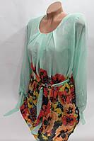 Туника-платье шифоновое под поясок Турция оптом в Хмельницком