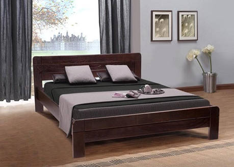 Кровать Сабрина 1,60 м. (тем.орех, коньячный) (Ясень), фото 2