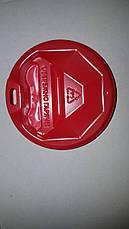Крышка пластиковая красная для бумажных стаканчиков в ассортименте с поилкой питейником., фото 3