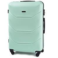 Большой дорожный чемодан из поликарбоната на 4 колесах фирма WINGS (мятный)