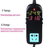 Терморегулятор термостат MH-2000 с розеткой и выносным датчиком., фото 3