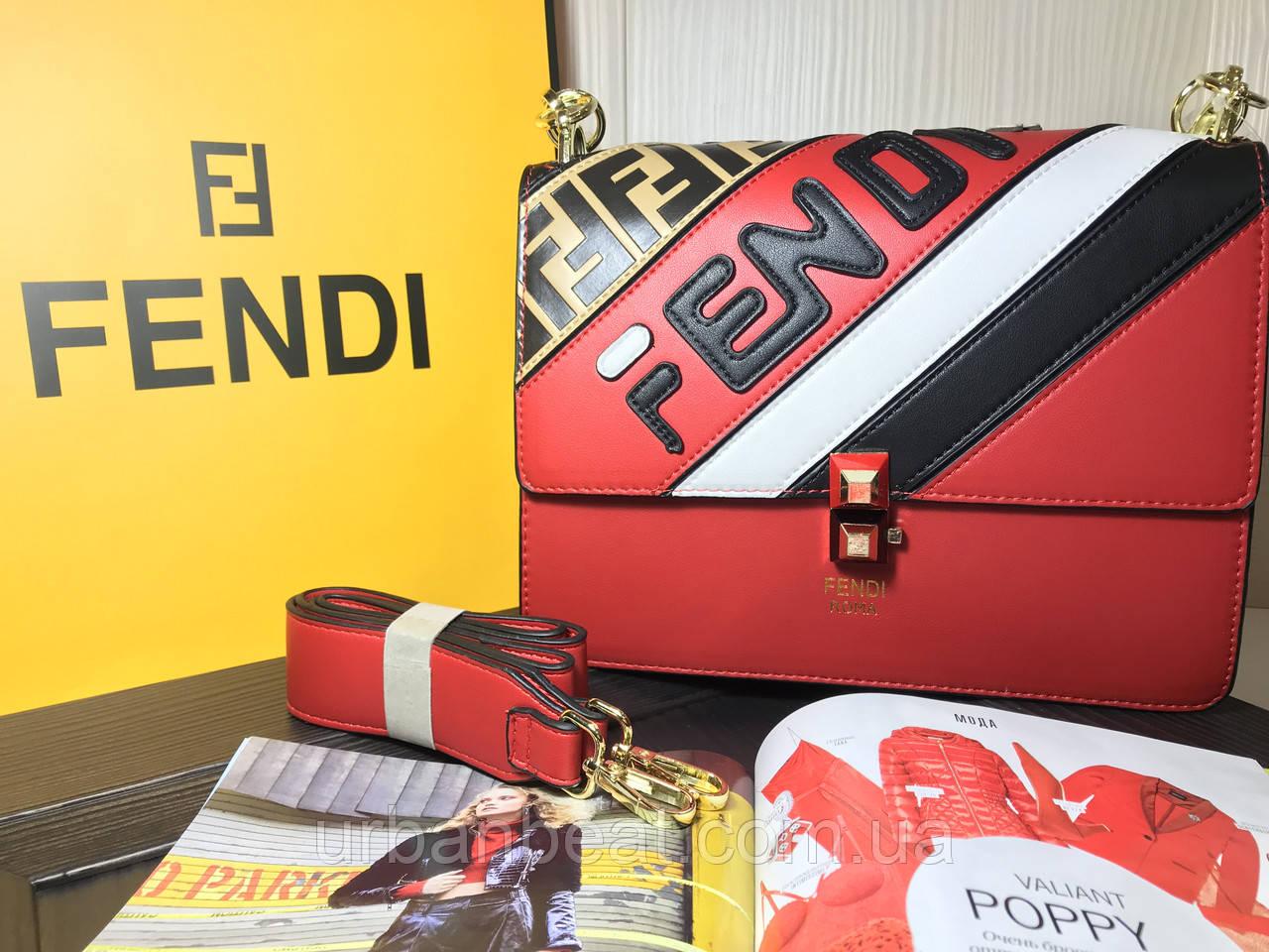 79155056ff5f Женская мини сумка Фенди Mania Kan1 Roma Red (Реплика): продажа ...