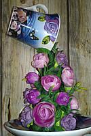 """Подарок на День влюбленных.Парящая чашка """"Сиреневая """" декорированная ., фото 1"""