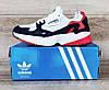 Жіночі кросівки Adidas Falcon Navy/Red/White Остання пара 39 - на ногу 25см в ідеалі, фото 4