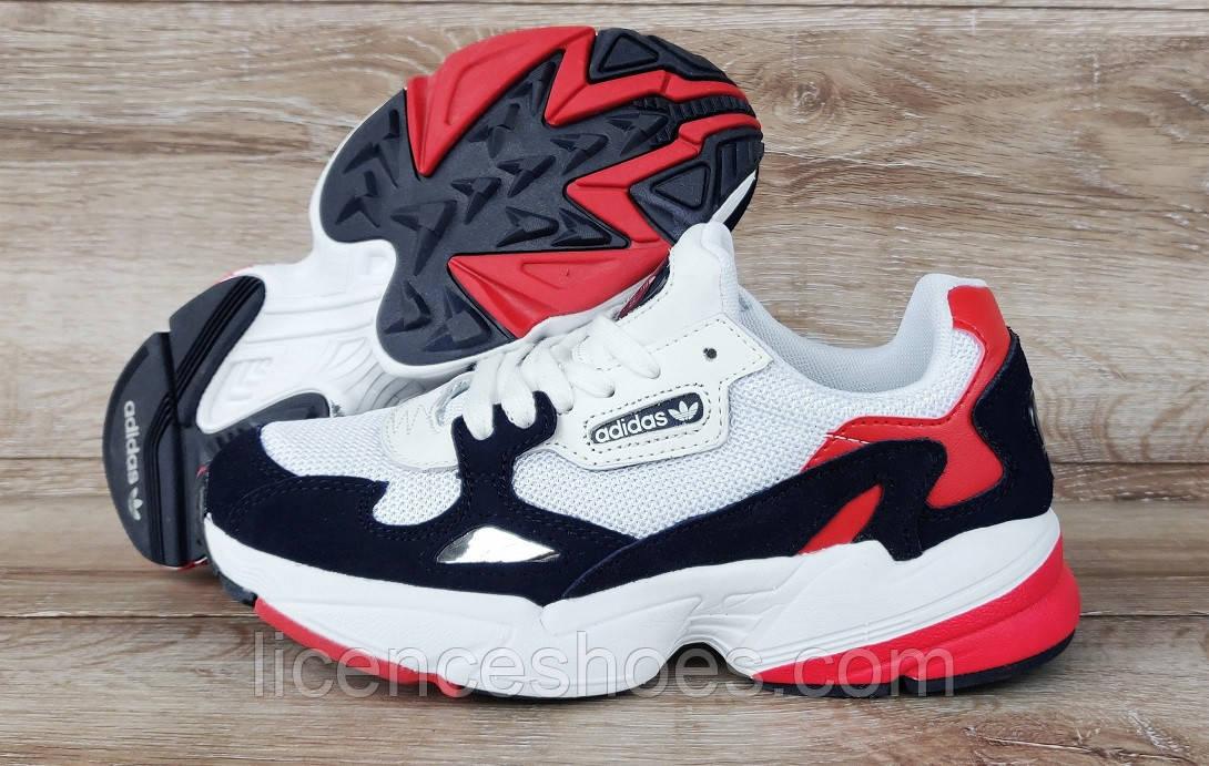 Жіночі кросівки Adidas Falcon Navy/Red/White Остання пара 39 - на ногу 25см в ідеалі