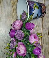 """Подарок на День влюбленных.Парящая чашка """"Сиреневая """" декорированная ."""