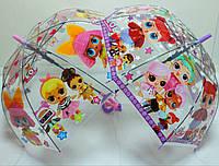 Прозрачный зонт куполом куклы ЛОЛ, LOL