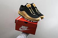 Мужские весенние кроссовки в стиле Nike Air Max 97 QS (black/gold), (Реплика ААА)