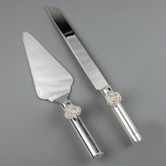 Нож и лопатка для торта Розочки
