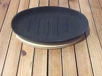 Овальная чугунная сковородка с деревянной подставкой , фото 1