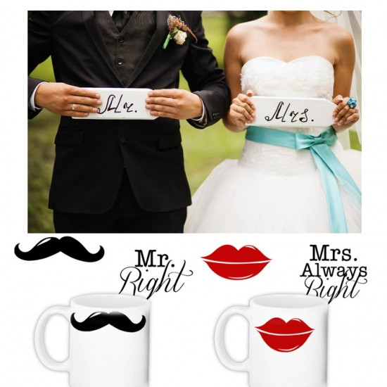 Набор чашек MR & MS