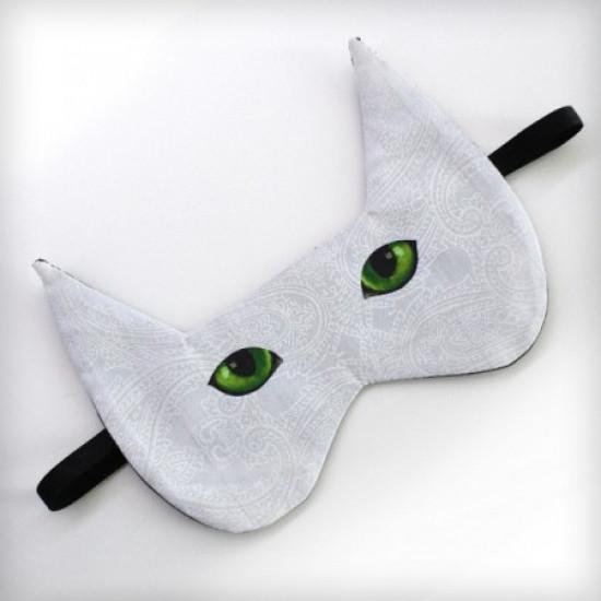 Маска для сна Кот зеленоглазый