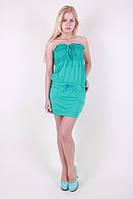 Женское короткое платье с открытыми плечами в расцветках