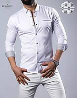 Мужская рубашка белого цвета, фото 1