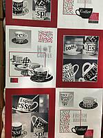 """Обои виниловые на бумаге, """" чашки"""" 5653-13 супер мойка для кухни 0,53*10"""