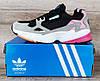 Жіночі кросівки Adidas Falcon Black/Grey/Pink Остання пара 37 - 23.5 см, фото 3