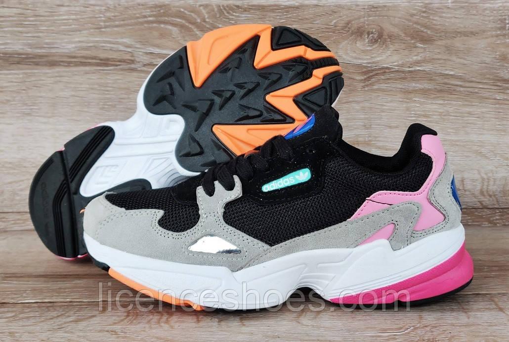 Жіночі кросівки Adidas Falcon Black/Grey/Pink Остання пара 37 - 23.5 см