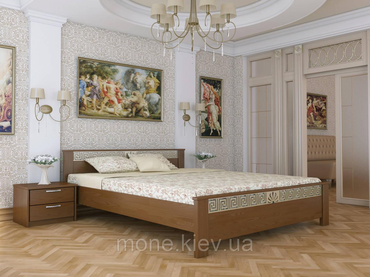 """Кровать двуспальная"""" Хлоя"""" деревянная из бука"""