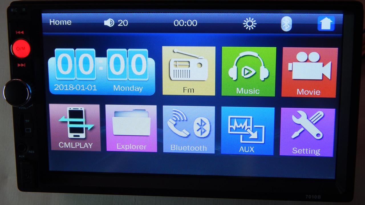 Магнітола автомобільна ZIRY 7010b 2din, сенсорний екран 7 дюймів