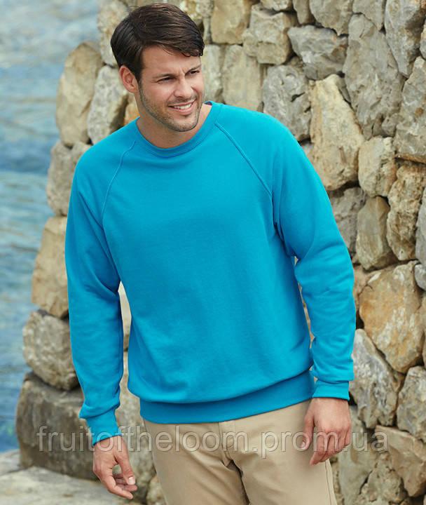 Мужской легкий свитер толстовка реглан Fruit of the loom 62-138-0