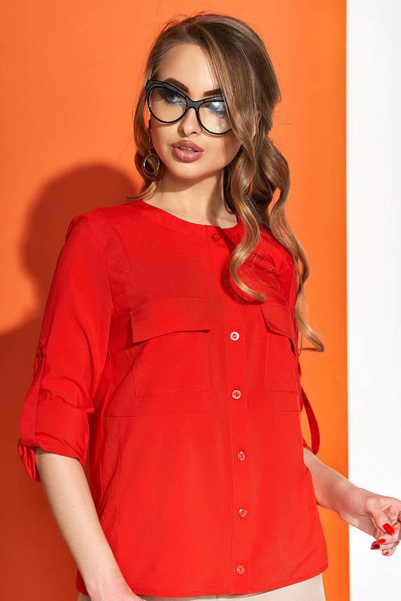 Красивая блузка красная на каждый день, фото 2