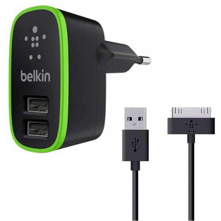 СЗУ Belkin 2in1 2USB 2.1A F8M670krBLK iPhone 4 black