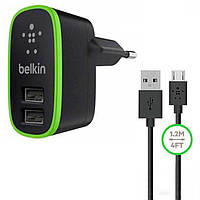 СЗУ Belkin 2in1 2USB 2.1A F8M670krBLK Micro USB black