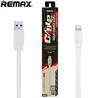 USB кабель Remax FullSpeed RC-001i lightning 1m белый (30066)