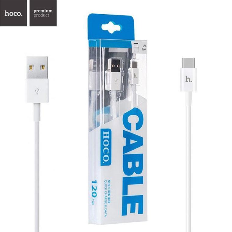 USB кабель Hoco UPT02 Type-C 1.2m белый