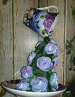 Ширяюча чашка Бузкова 2 декорована Подарунок на День закоханих, фото 1
