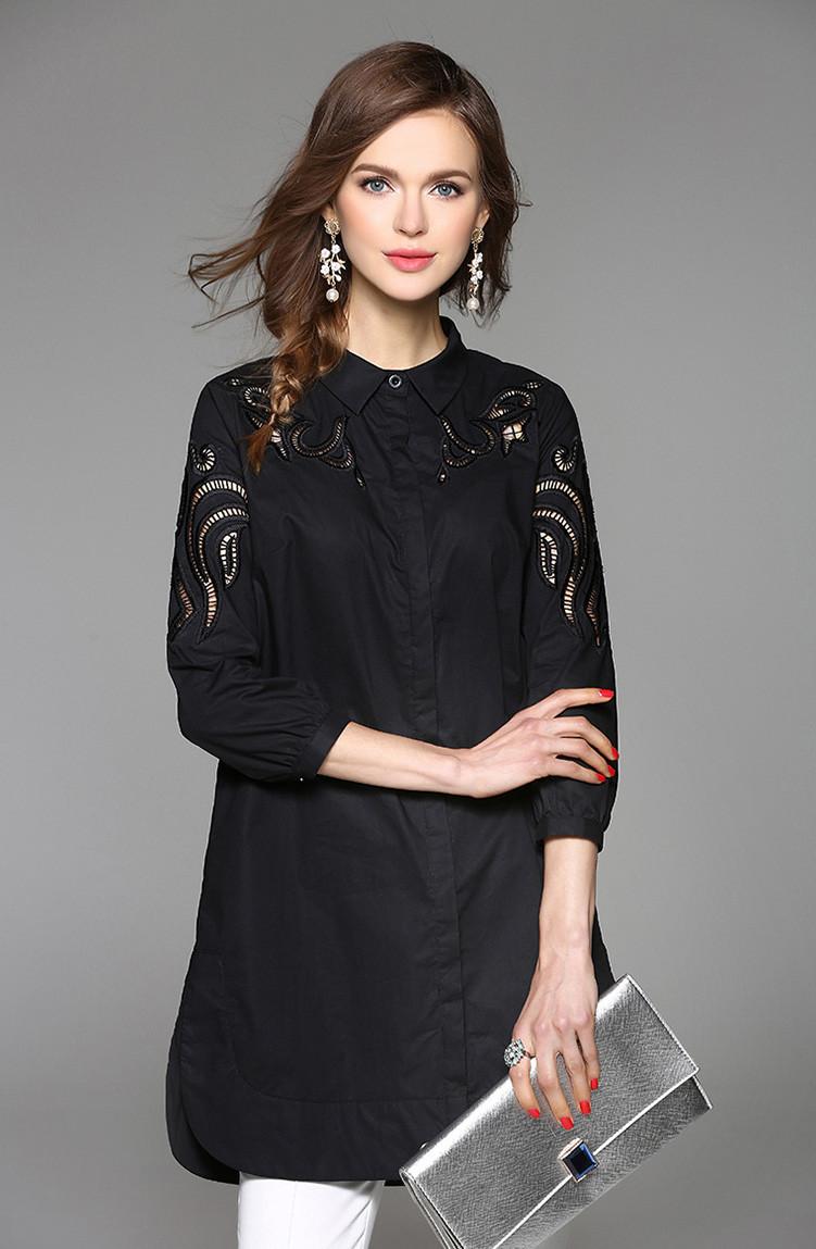 Женское платье-рубашка Китай (в расцветках 44-46)