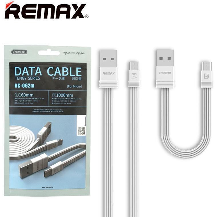 USB кабель Remax RC-062m micro USB 1m белый (30621)
