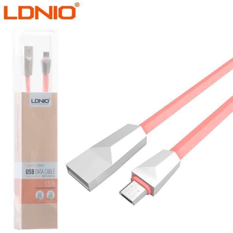 USB кабель LDNIO LS26 micro USB 1m розовый (30645)
