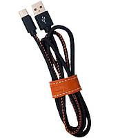 Кабель USB - Type-c (JEANS) 1m черный